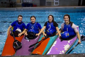 The team from left: Sophie Louth, Anja Mizdrak, Helen Tatlow, Abi Edmonds