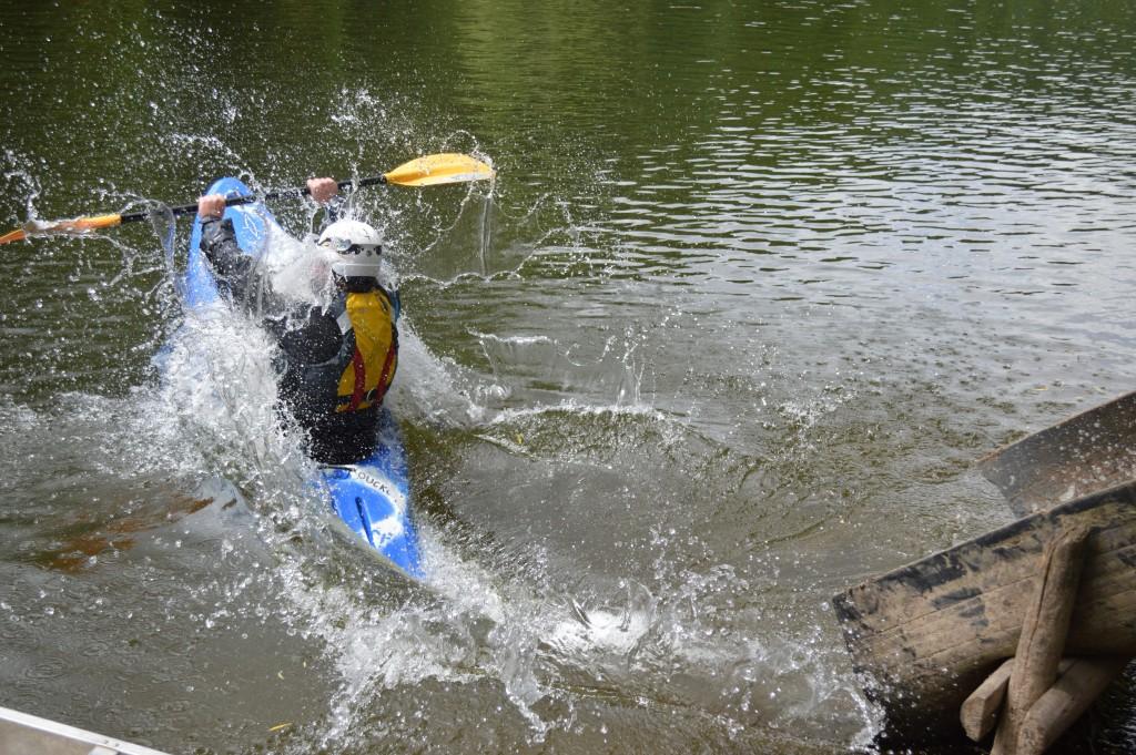 Cormac making a splash